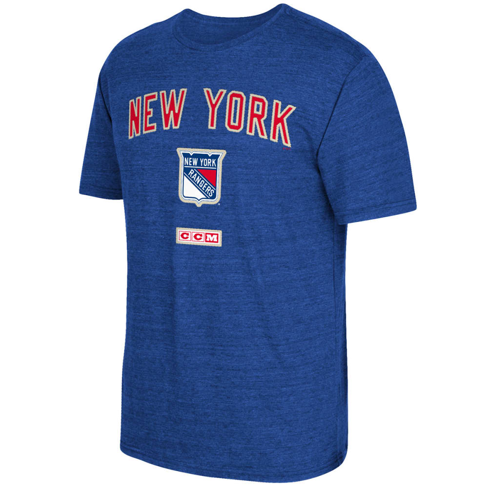 REEBOK Men's New York Rangers Stitches Needed Short-Sleeve Tee - ROYAL BLUE