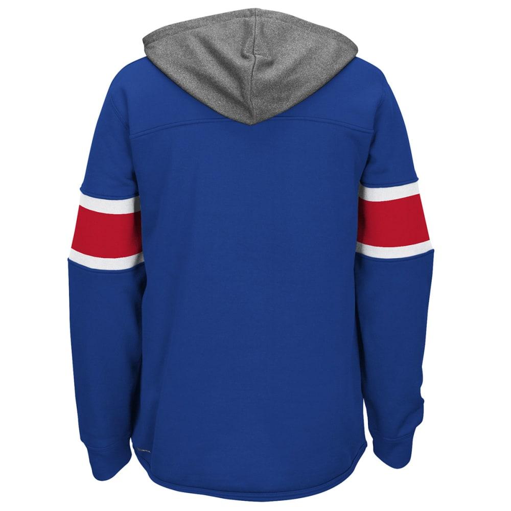 REEBOK Men's New York Rangers Jersey Pullover Hoodie - ROYAL BLUE