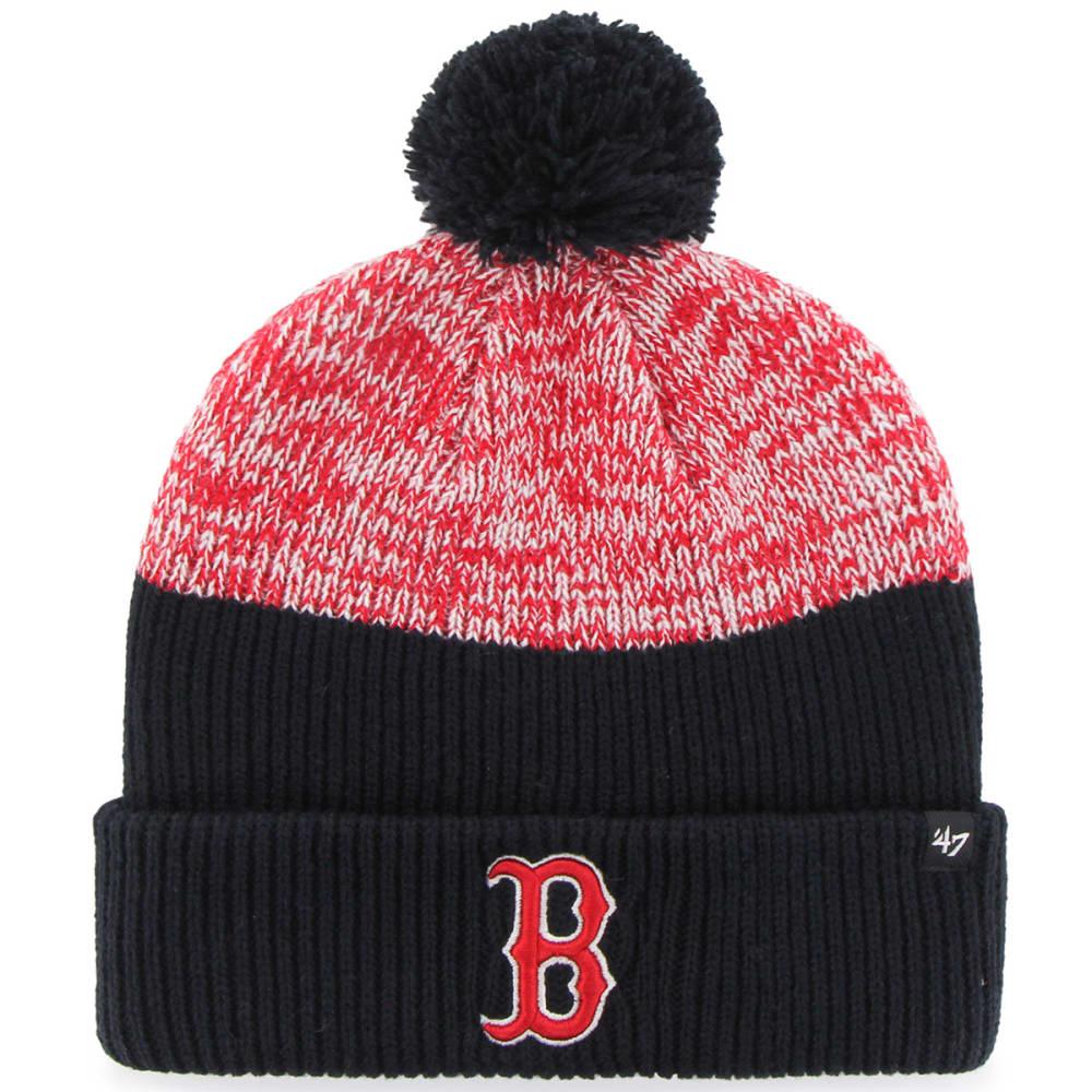 BOSTON RED SOX '47 Backdrop Cuffed Pom-Pom Beanie - NAVY/RED