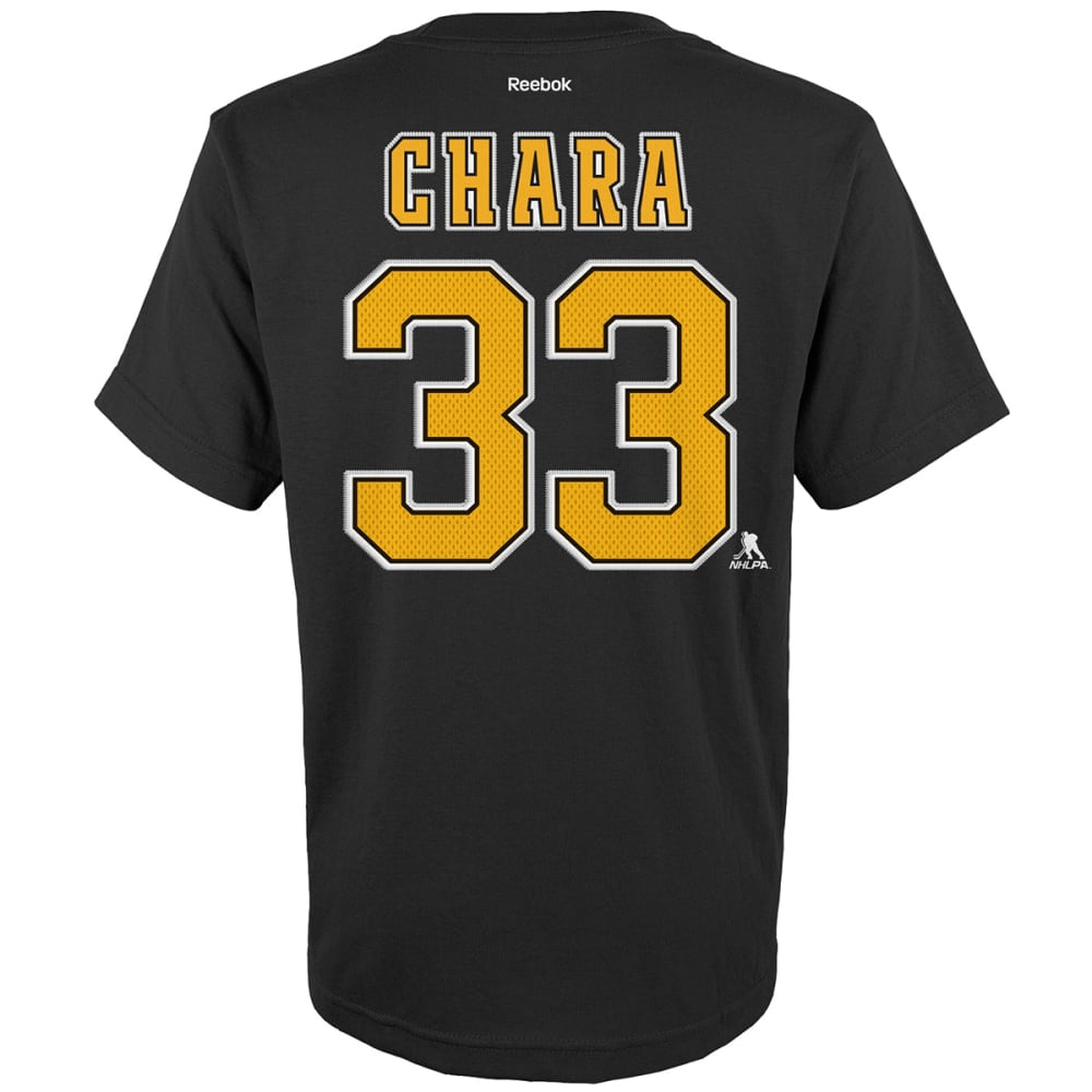 BOSTON BRUINS Boys' Zdeno Chara #33 Name and Number Tee - BLACK
