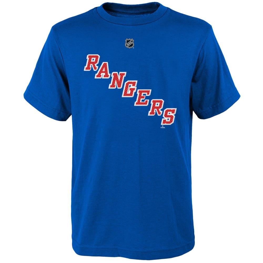 NEW YORK RANGERS Boys' Henrik Lundqvist #30 Name and Number Tee - ROYAL BLUE