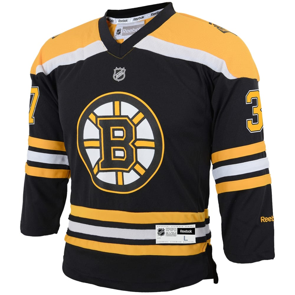 BOSTON BRUINS Boys' Bergeron #37 Home Premier Jersey - BLACK