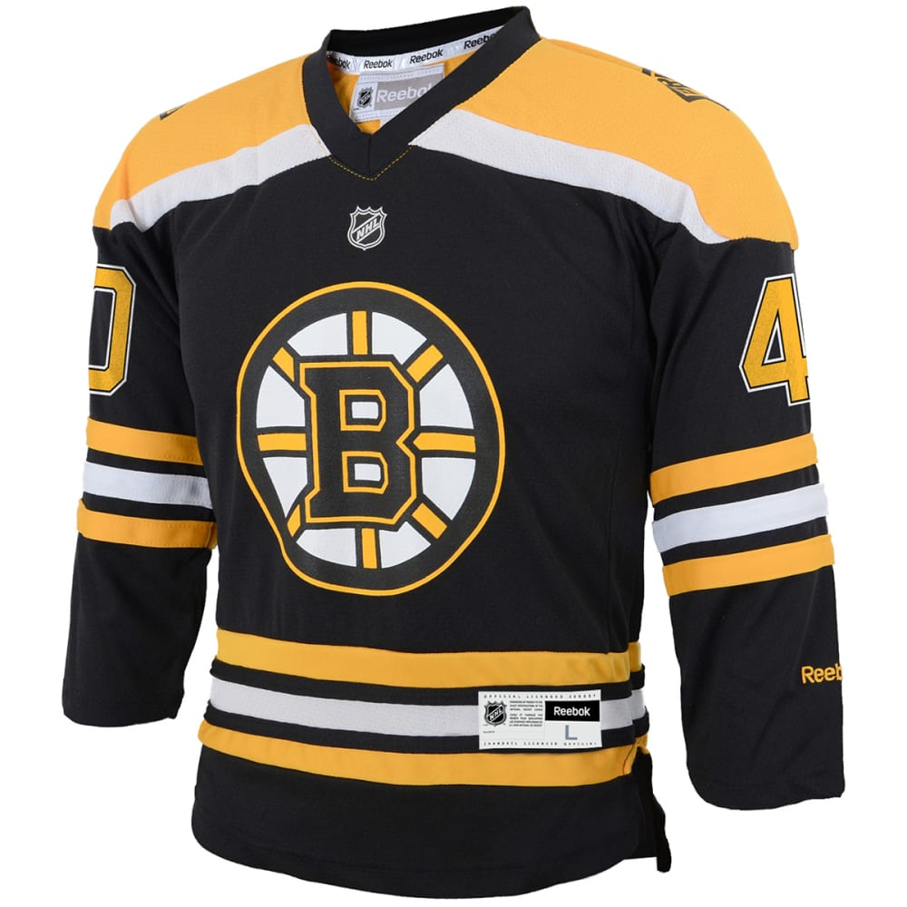 BOSTON BRUINS Boys' Rask #40 Home Premier Jersey - BLACK