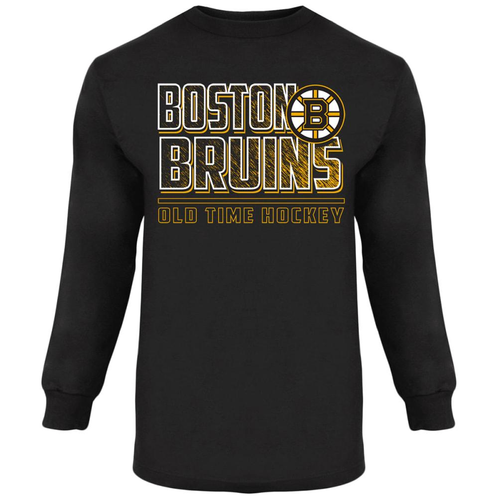 BOSTON BRUINS Boys' Bandit Long-Sleeve Tee - BLACK