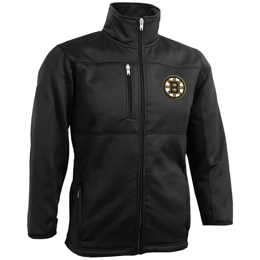 BOSTON BRUINS Boys' Bonded Fleece Full-Zip Jacket - BLACK