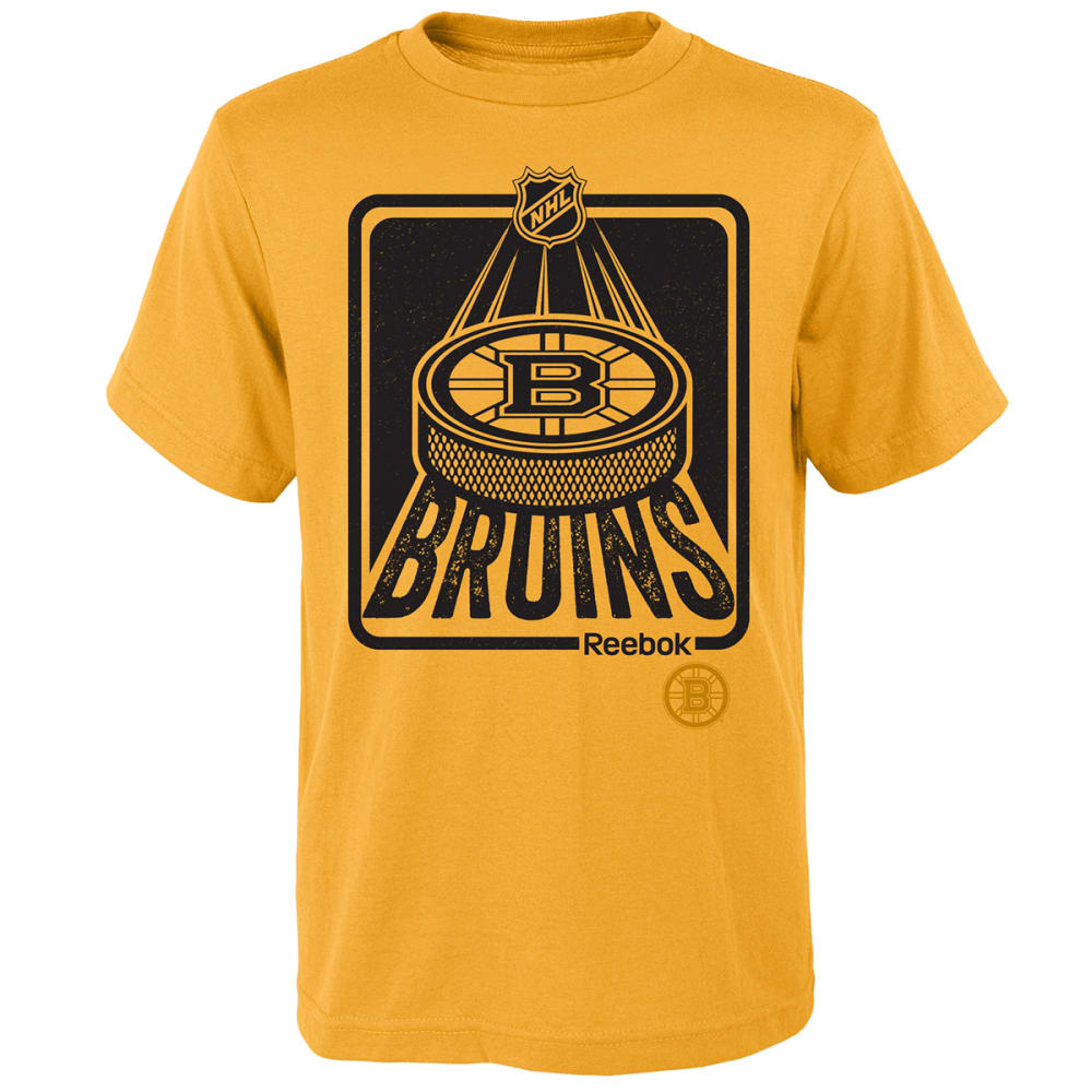BOSTON BRUINS Boys' Reebok Ice Packed Short Sleeve Tee - YELLOW