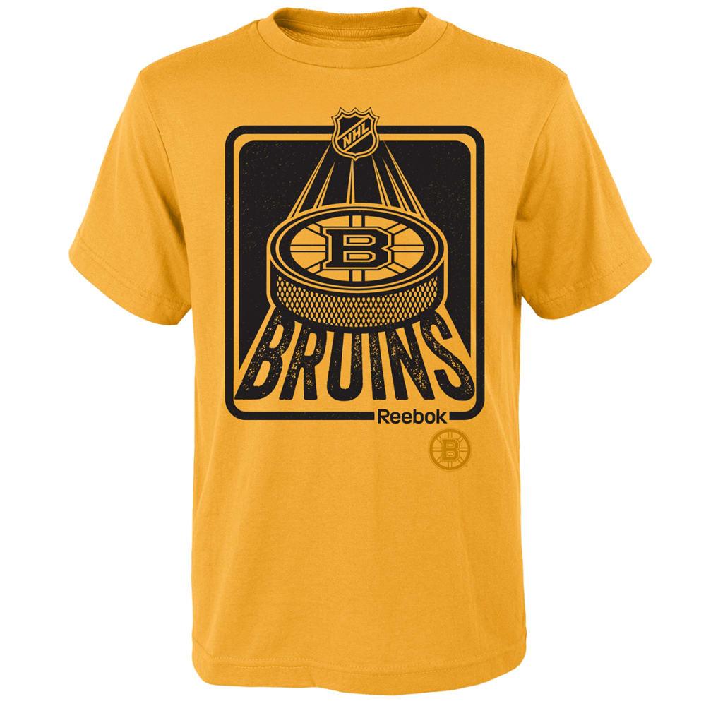 BOSTON BRUINS Boys' Reebok Ice Packed Short Sleeve Tee - YELLOW