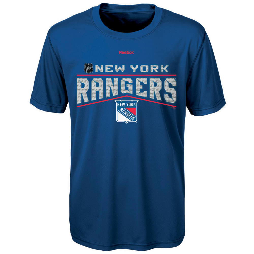 REEBOK Boys' New York Rangers TNT Freeze Reflect Short-Sleeve Tee - ROYAL BLUE