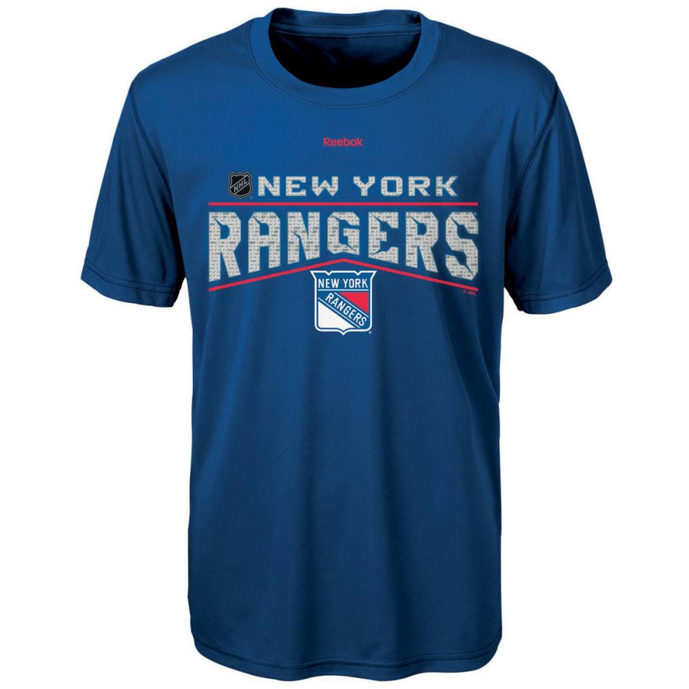 REEBOK Boys' New York Rangers TNT Freeze Reflect Short-Sleeve Tee - ROYAL BLUE