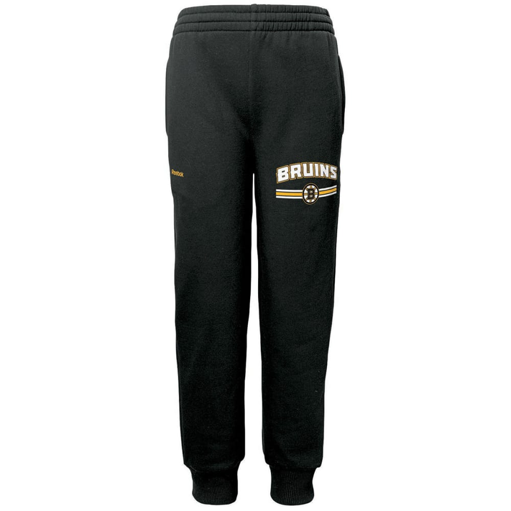 BOSTON BRUINS Boys' Cuffed Pants - BLACK