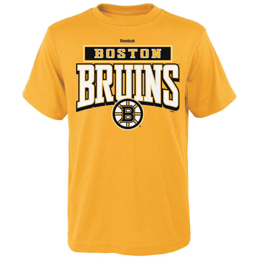 REEBOK Boys' Boston Bruins Totally Cool Short-Sleeve Tee - YELLOW
