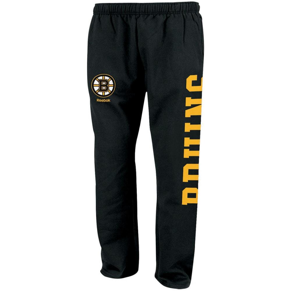 BOSTON BRUINS Boys' Fleece Pants - BLACK