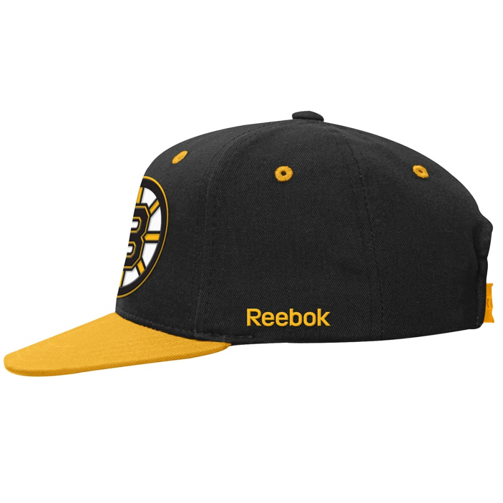 BOSTON BRUINS Boys' Two-Tone Flat-Brim Snapback Cap - BLACK