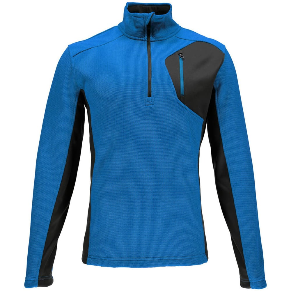 SPYDER Men's Bandit Half Zip Fleece Pullover - 480-ELECTRIC BLUE
