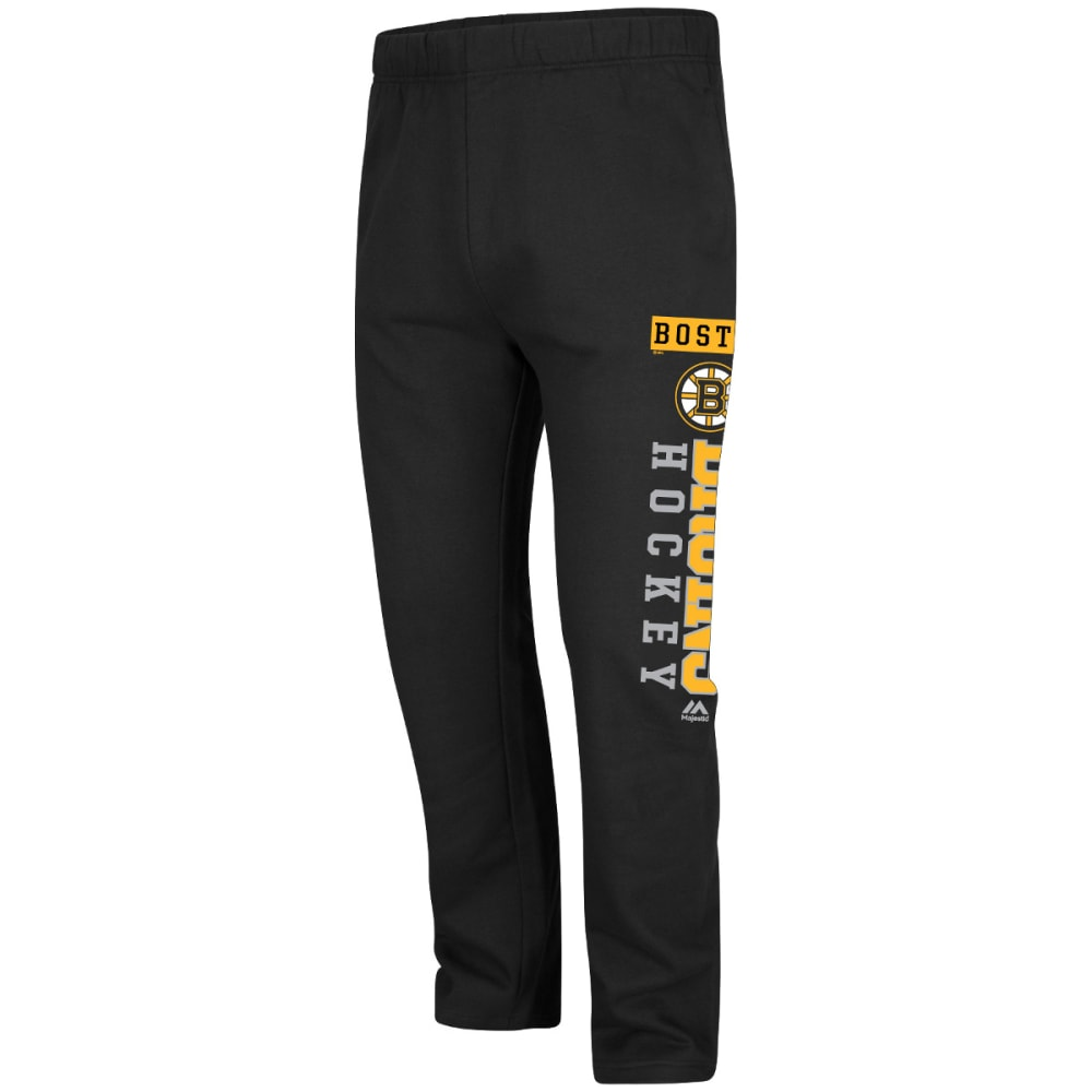 BOSTON BRUINS Men's Shutdown Pair Fleece Pants - BLACK