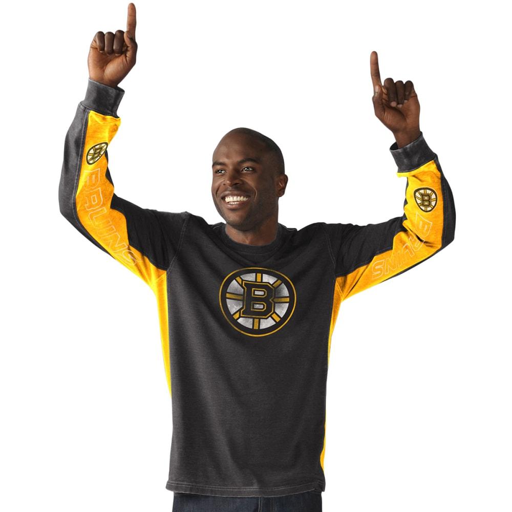 BOSTON BRUINS Men's Hands High Long-Sleeve Tee - BLACK