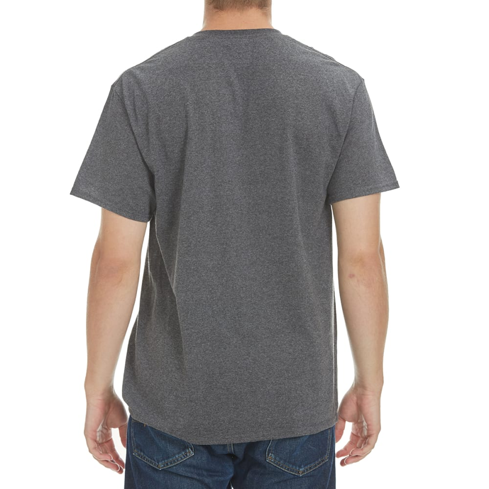 HYBRID Men's Middle Of Nothing Tee - HEATHER CHARCOAL