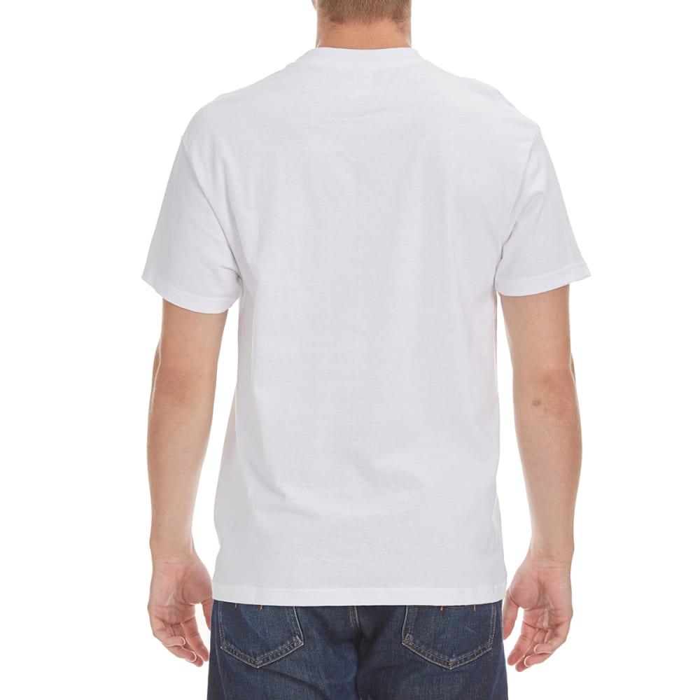 HYBRID Men's Marble Flag Tee - WHITE