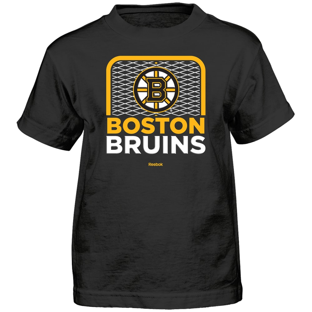 BOSTON BRUINS Boys' Center Goal Short-Sleeve Tee - BLACK