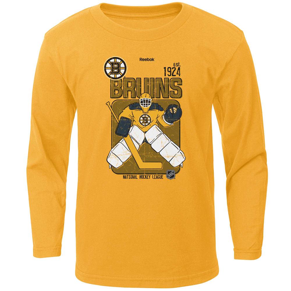 REEBOK Boys' Boston Bruins Goal Keeper Long-Sleeve Shirt - YELLOW