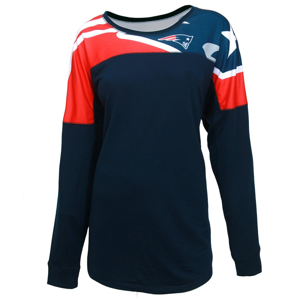 NEW ENGLAND PATRIOTS Women's Fanbase Long-Sleeve Top - NAVY