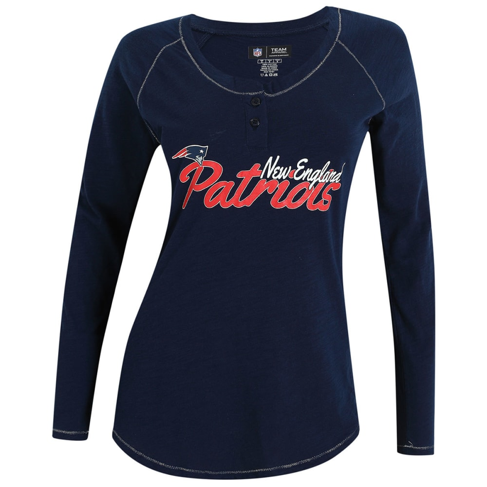 NEW ENGLAND PATRIOTS Women's Captivate Long Sleeve Top - NAVY