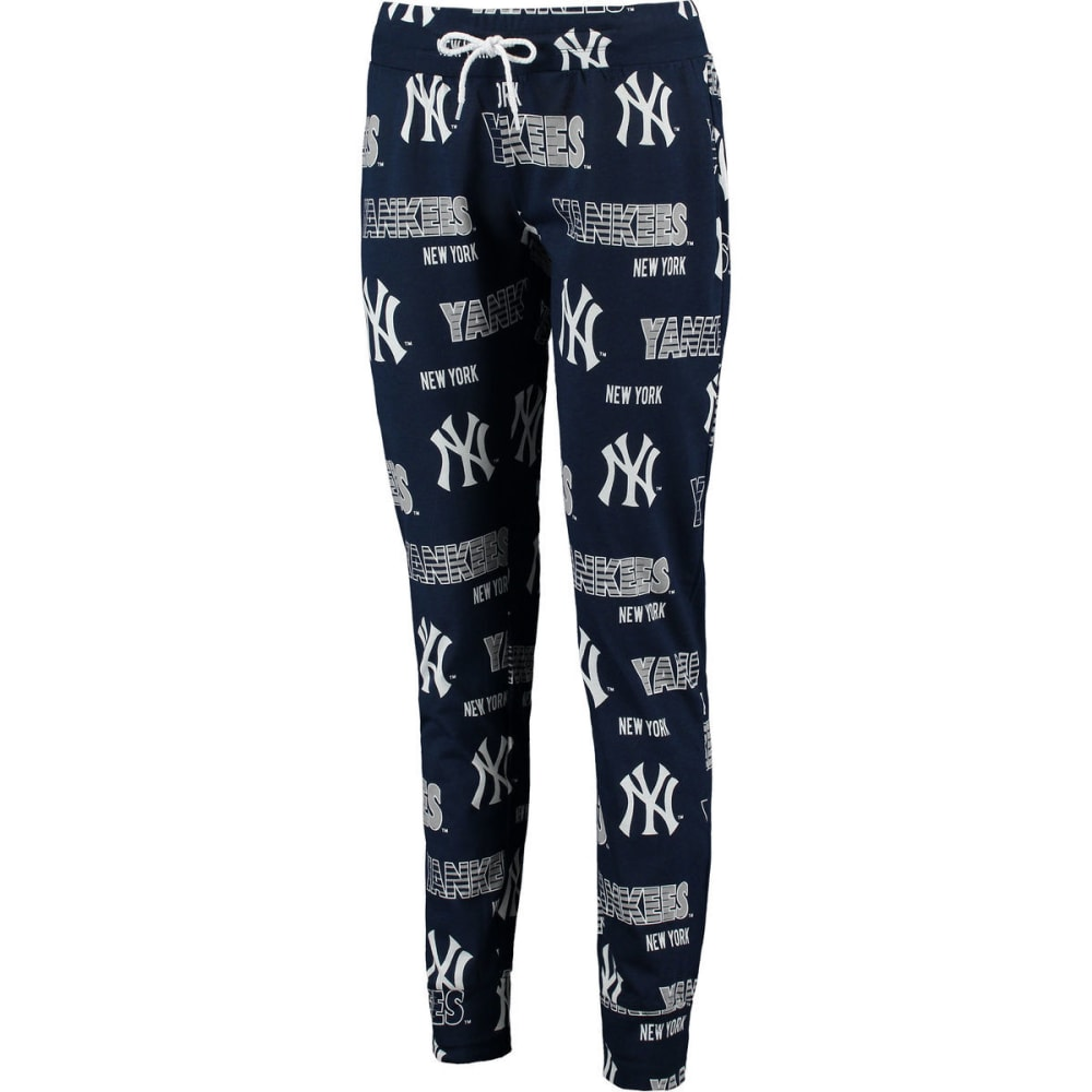 NEW YORK YANKEES Women's Printed Sweep Sleep Pants - NAVY
