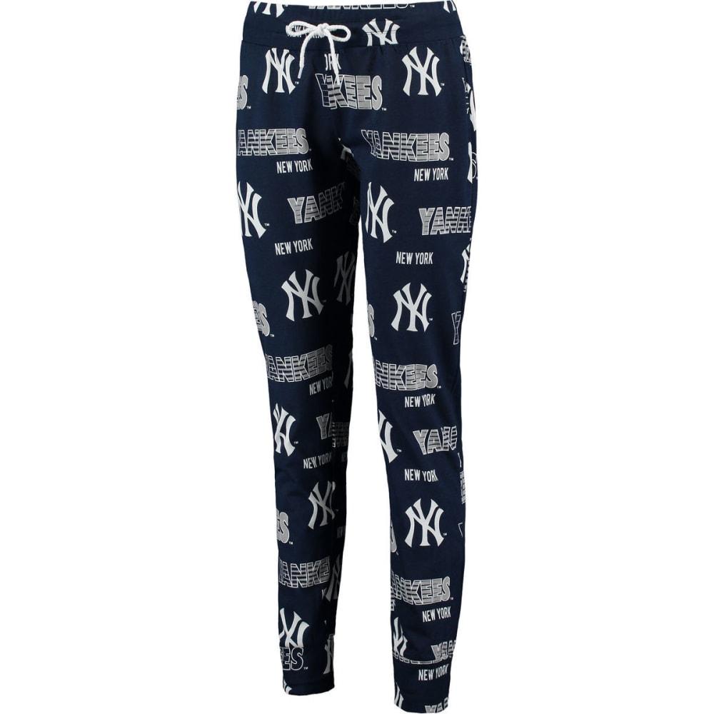 NEW YORK YANKEES Women's Printed Sweep Sleep Pants - NAVY