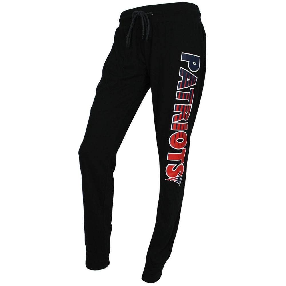 NEW ENGLAND PATRIOTS Women's Solid Sweep Sleep Pants - BLACK