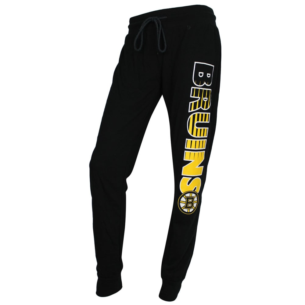 BOSTON BRUINS Women's Solid Sweep Sleep Pants - BLACK