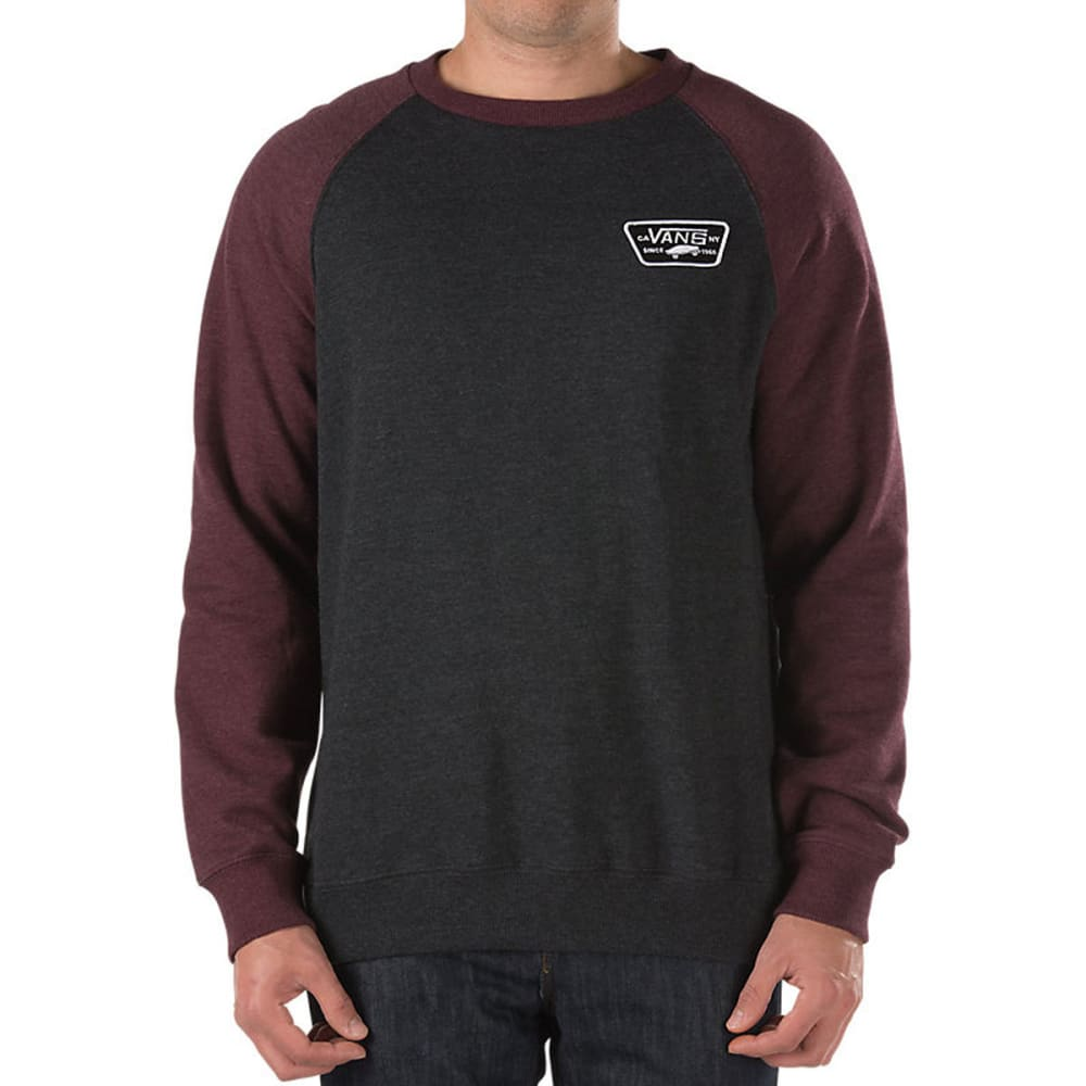 VANS Guys' Rutland Fleece Pullover - BLK HTR/GRAPE LEAF