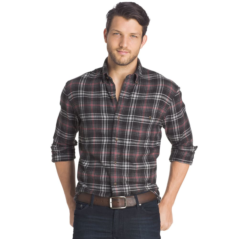 G.H. BASS & CO. Men's Fireside Flannel Long-Sleeve Shirt - 006-BLACK