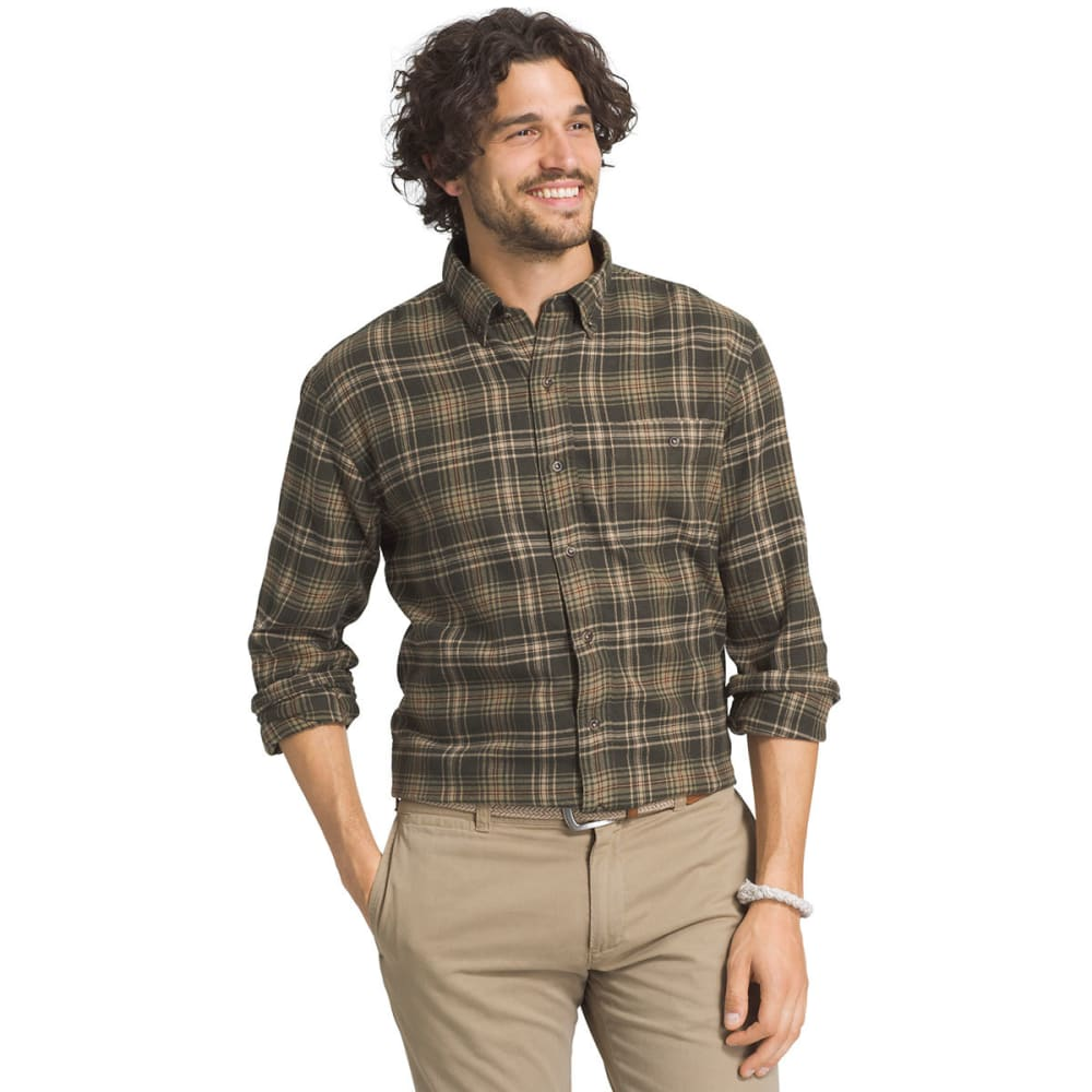 G.H. BASS & CO. Men's Fireside Flannel Long-Sleeve Shirt - 301-ROSIN