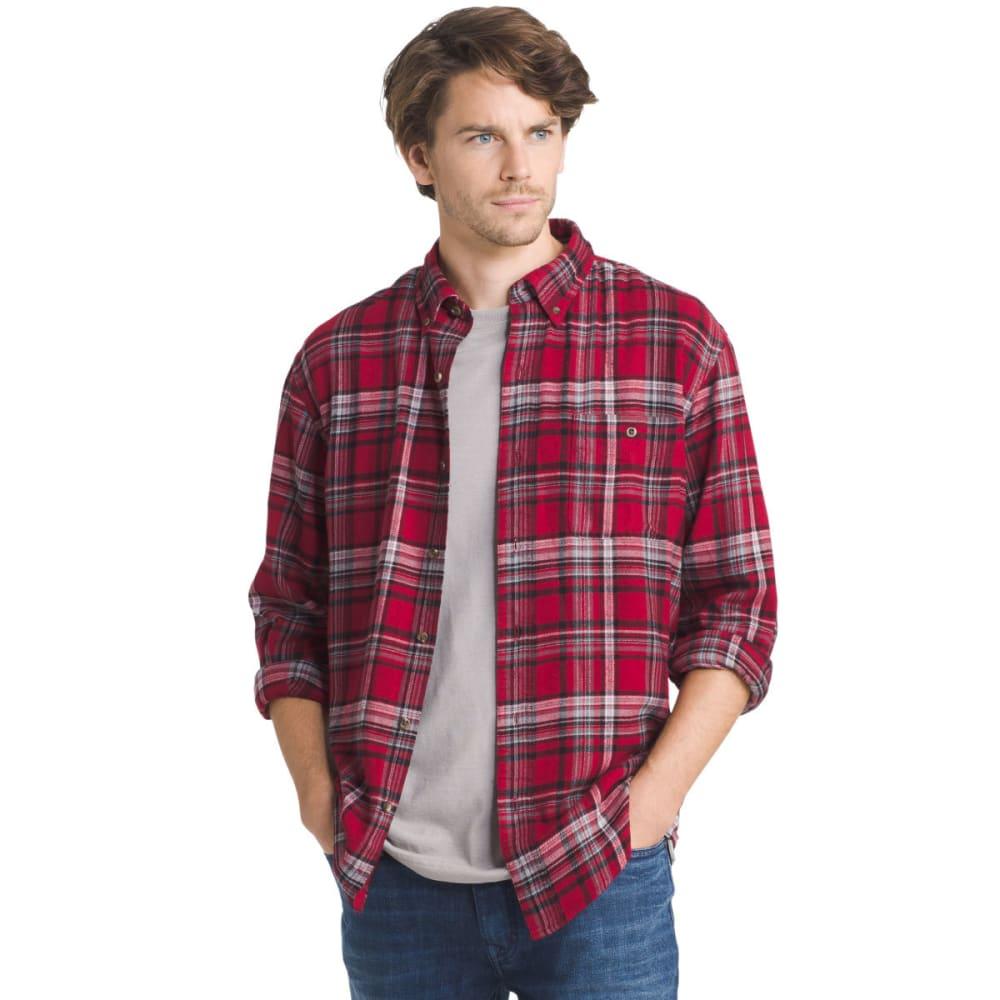 G.H. BASS & CO. Men's Fireside Flannel Long-Sleeve Shirt - 633-RHUBARB
