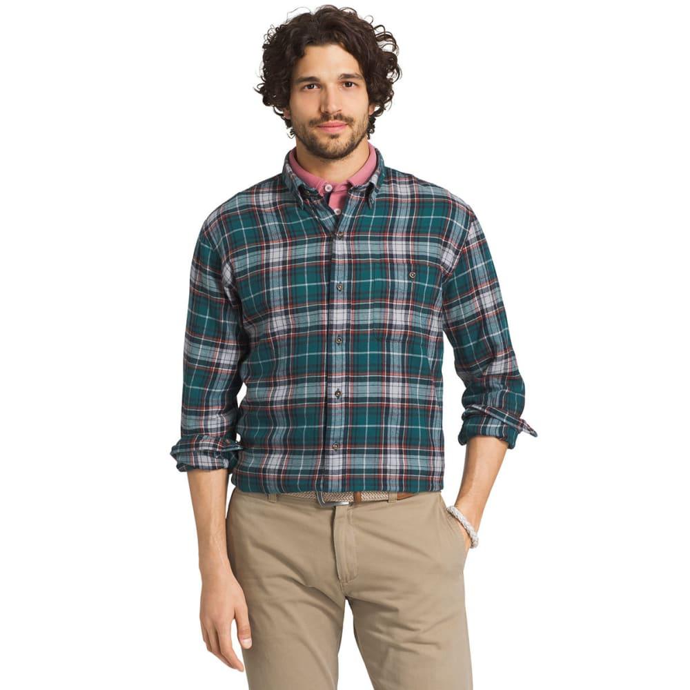 G.H. BASS & CO. Men's Fireside Flannel Long-Sleeve Shirt - 392-PACIFIC