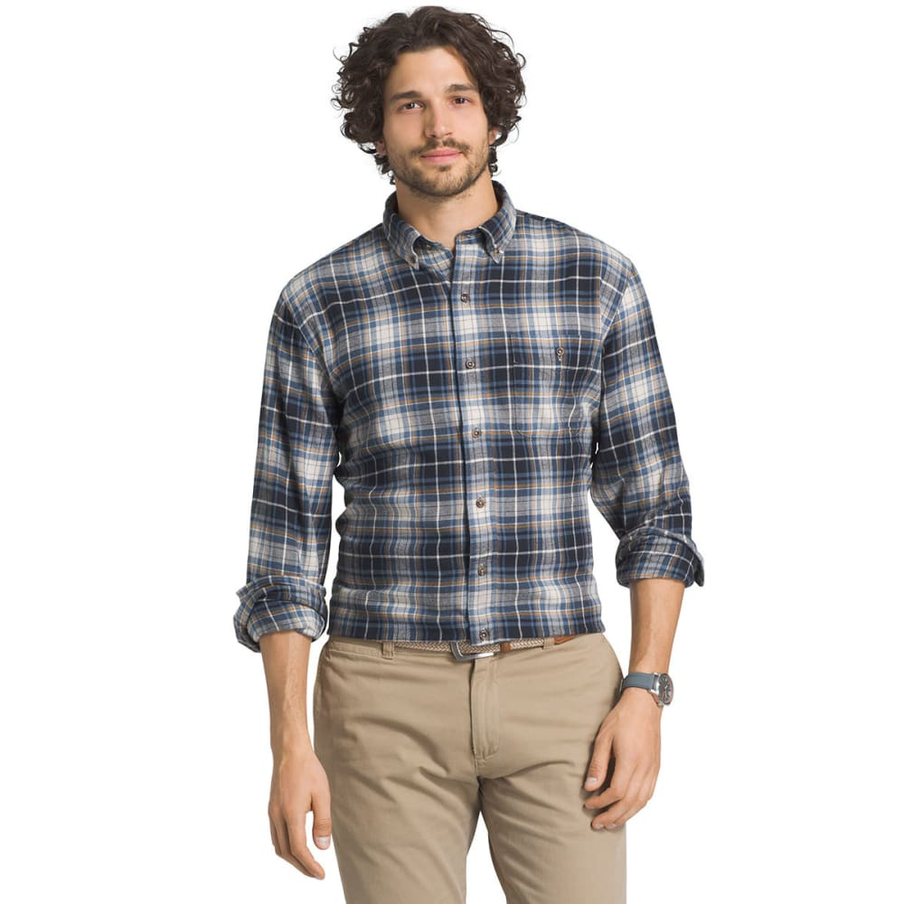G.H. BASS & CO. Men's Fireside Flannel Long-Sleeve Shirt - 403-BLU SALUTE
