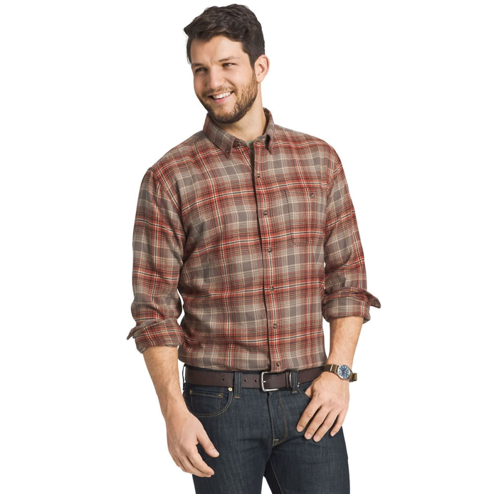 G.H. BASS & CO. Men's Long Sleeve Fireside Flannel Shirt - 219-BUNGEE CORD