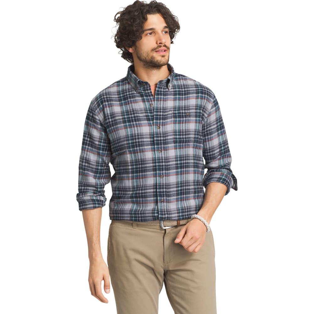 G.H. BASS & CO. Men's Fireside Long-Sleeve Flannel Shirt - 048-ALLOY