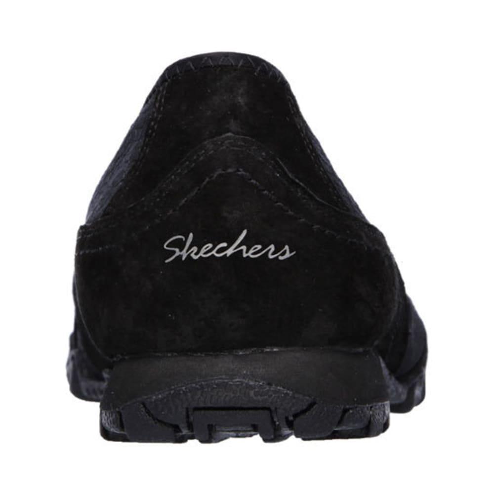 SKECHERS Women's Relaxed Fit: Bikers – Satine Sneakers - BLACK