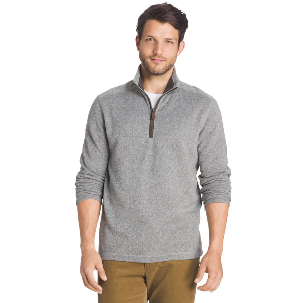 G.H. BASS Men's Rock Sweater Fleece 1/4-Zip Pullover - 050-HIGH RISE HTR