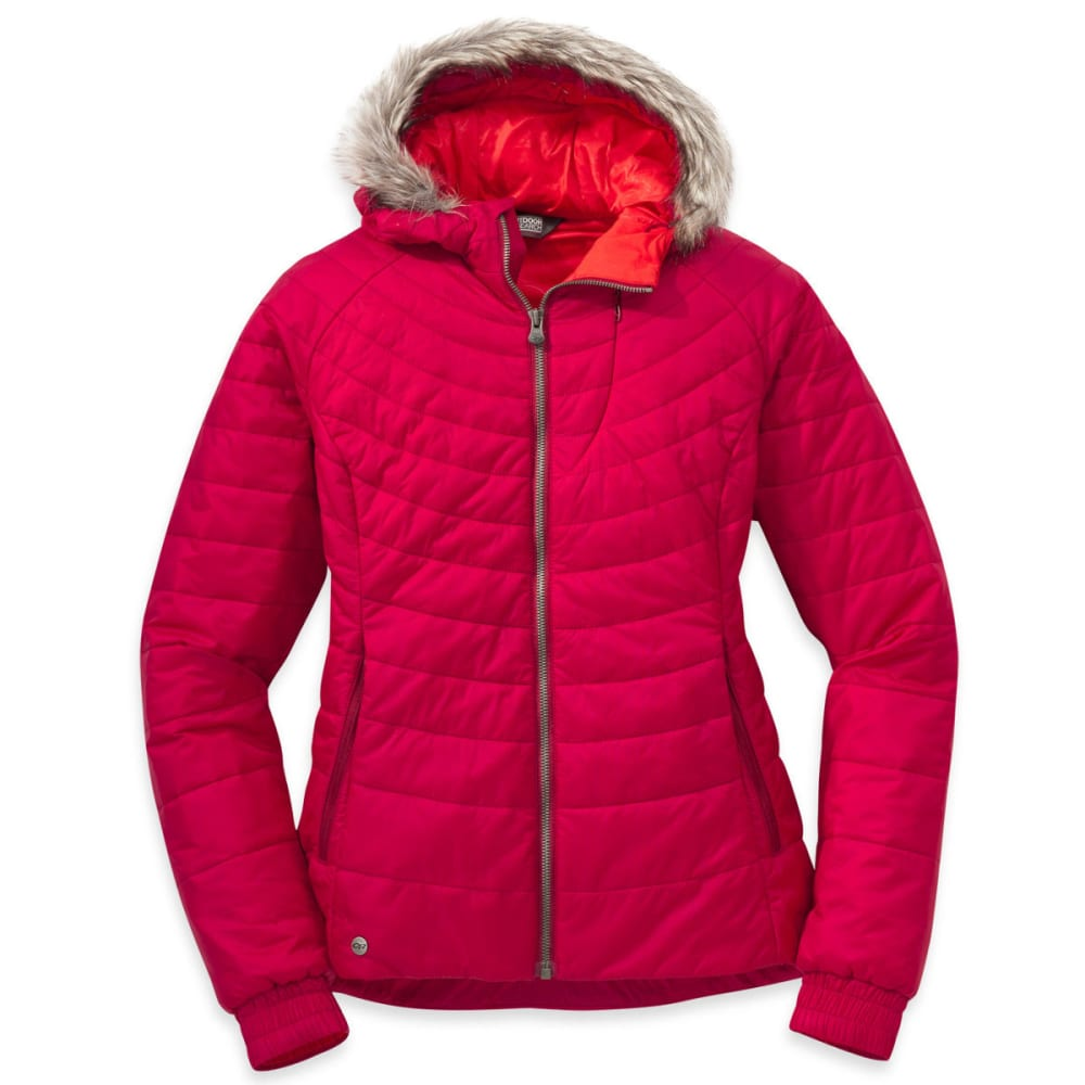 OUTDOOR RESEARCH Women's Breva Jacket - SCARLET/FLAME