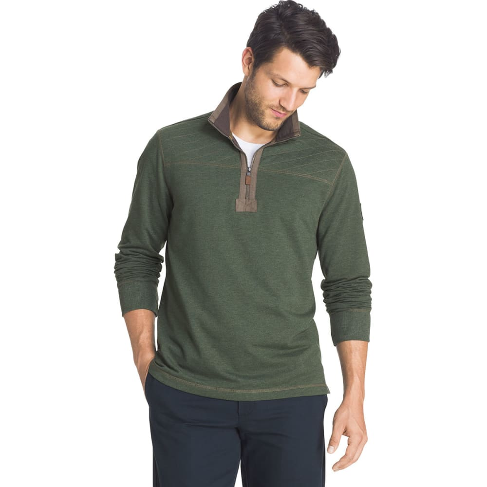 G.H. BASS & CO. Men's Mountain Wash Half-Zip Fleece Pullover - 304-DUFFLE BAG HTR