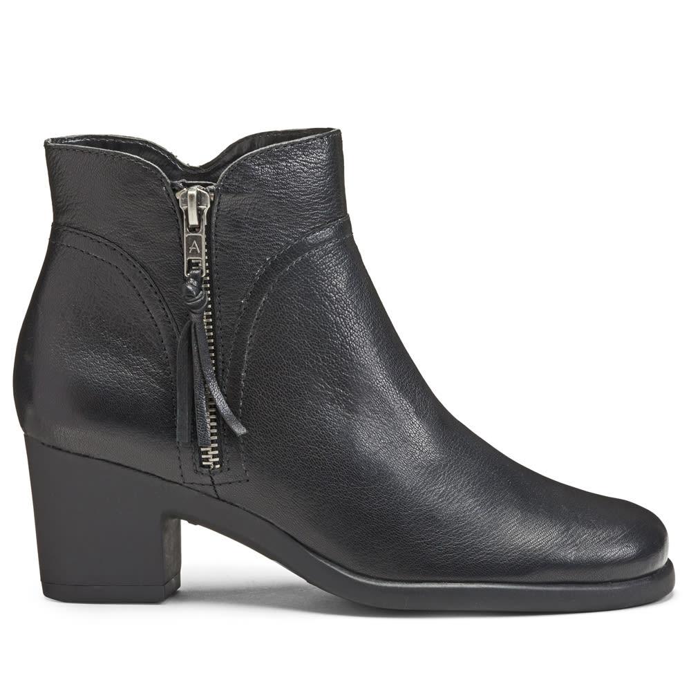 AEROSOLES Women's Acrobatic Ankle Boots, Wide - BLACK