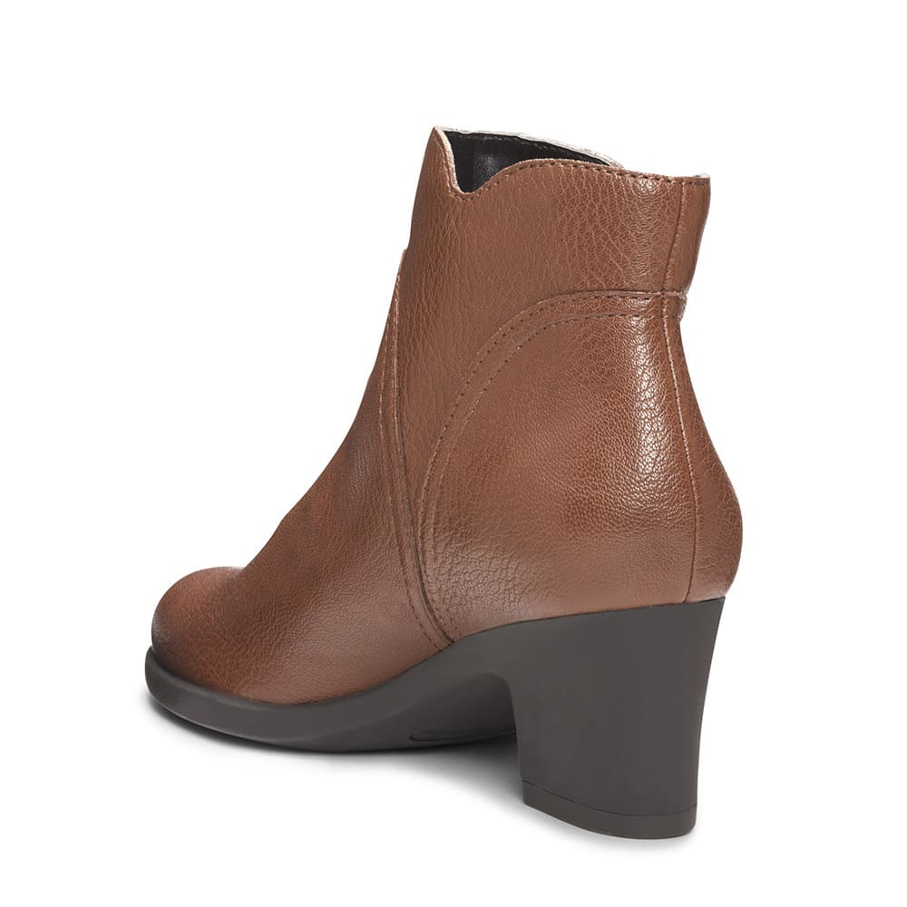 AEROSOLES Women's Acrobatic Ankle Boots, Wide - BROWN