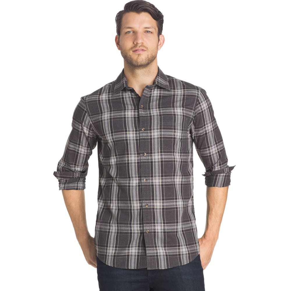 G.H. BASS & CO. Men's Madawaska Twill Shirt - 067-RAVEN HTR