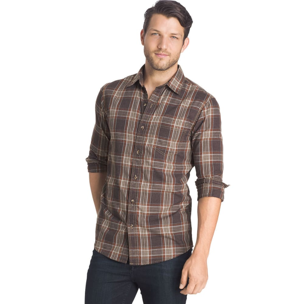 G.H. BASS & CO. Men's Madawaska Twill Shirt - 201-AFTER DARK HTR