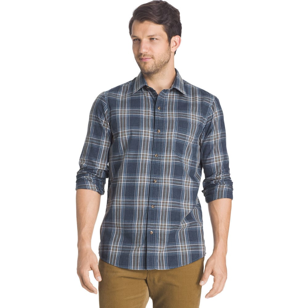 G.H. BASS & CO. Men's Madawaska Twill Shirt - 473-BLU NGHTS HTR