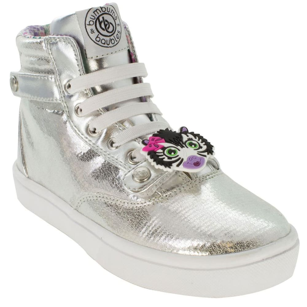 BUMBUMS & BAUBLES Girls' Brooklyn Hi-Tops - SILVER