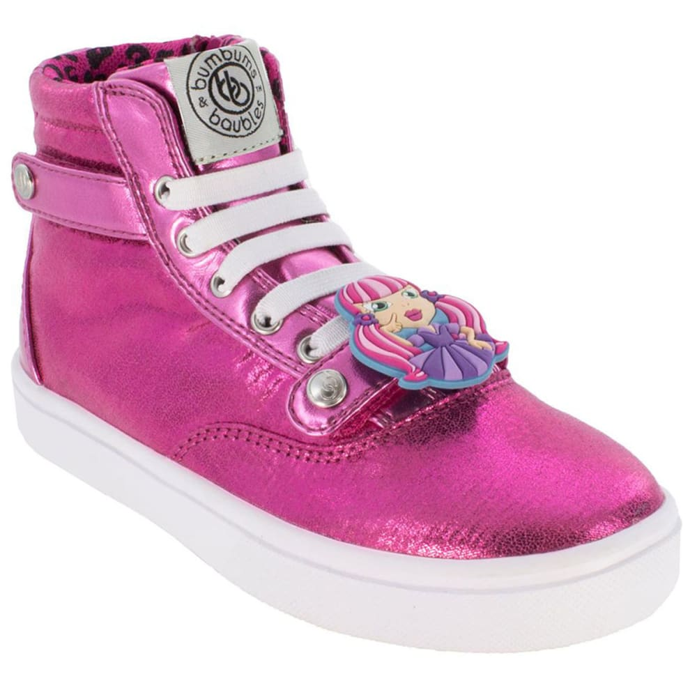 Bumbums & Baubles Girls Brooklyn Hi-Tops - Red, 2