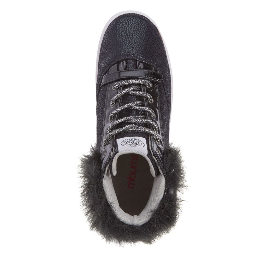 BUMBUMS & BAUBLES Girls' Brooklyn Fur Sneakers - BLACK